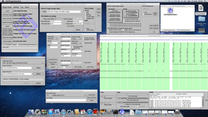 New HxC Floppy Emulator software for Windows and Mac OS X